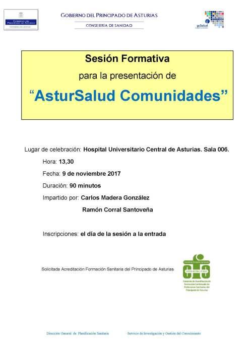 Cartel ASTURSALUD COMUNIDADES HUCA